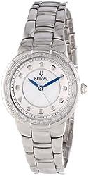 Bulova Women's 96R174 Diamond-Set Case Watch in Silver Tone