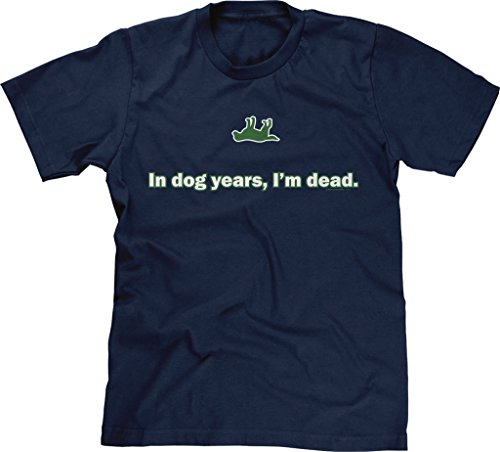 Blittzen Mens In Dog Years, I'm Dead, XL, Navy Blue