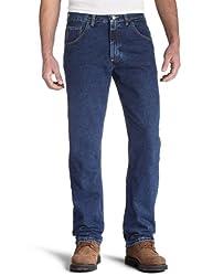 Wrangler Men's Regular Fit Jeans, Dark Denim, 38W x 34L