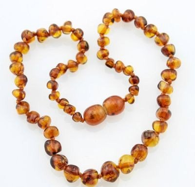 The Art of CureTM *SAFETY KNOTTED* Sienna - Certified Baltic Amber Baby Teething Necklace w/The Art of CureTM Jewelry Pouch (SHIPS AND SOLD IN USA) from The Art of Cure