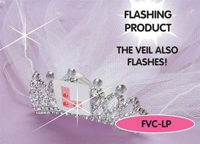 Saucy Hen Night Headwear | Flashing L Plate Tiara with Veil