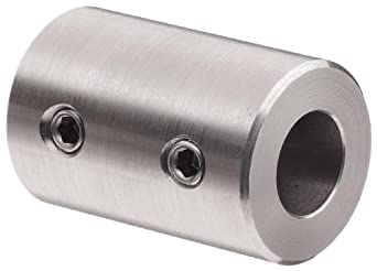 "Climax Metal RC-025-S  Coupling, Stainless Steel Grade 303, 1/4"" Bore , 1/2"" OD, With 10-32 x 1/8 Set Screw"