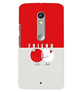 PrintDhaba FRIEND D-6721 Back Case Cover for MOTOROLA MOTO X PLAY (Multi-Coloured)