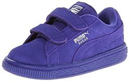PUMA Suede Classic 2-Strap Sneaker ,Spectrum Blue/PUMA Silver,5 M US  Infant