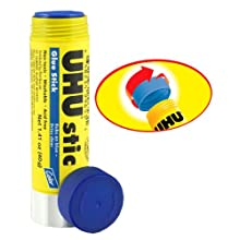 Saunders UHU Glue Stick, 1.41 oz., Blue, Pack of 12 (99653)