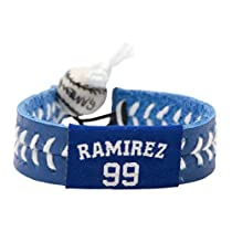 MLB Manny Ramirez Team Color Jersey Bracelet