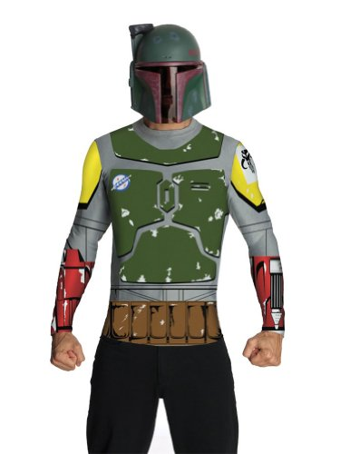 Adult-Costume Boba Fett Adult Top Cape & Mask Lg Halloween Costume