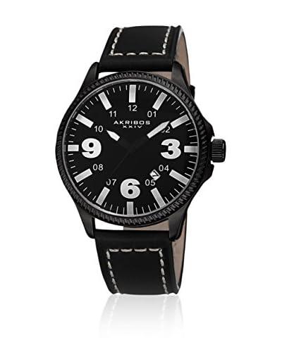 Akribos XXIV Reloj con movimiento cuarzo japonés  Negro 44.5 mm