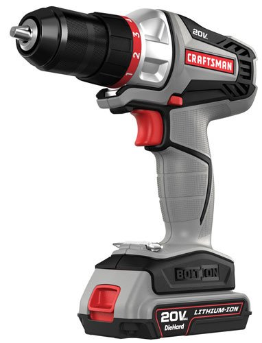 Craftsman -16496 - Bolt-On 20 Volt MAX Lithium Ion Drill/Driver Kit (Craftsman Push Drill compare prices)