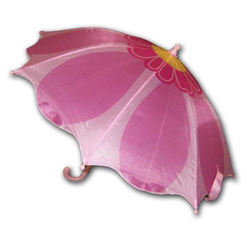 Kids Girl's Pink Flower Umbrella
