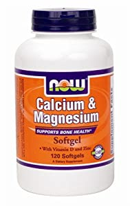 NOW Foods Calcium/Magnesium Plus Vitamin D and Zinc, 120 Softgels