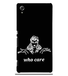 Who cares 3D Hard Polycarbonate Designer Back Case Cover for Sony Xperia Z3+ :: Sony Xperia Z3 Plus :: Sony Xperia Z3+ dual :: Sony Xperia Z3 Plus E6533 E6553 :: Sony Xperia Z4