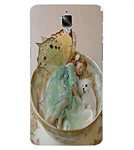 ColourCraft Cute Baby Angel Design Back Case Cover for OnePlus Three