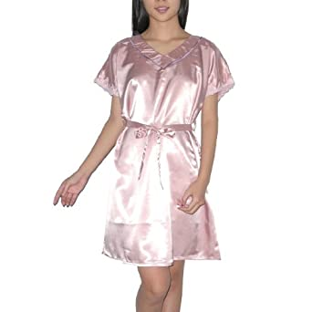 Silk Couture Womens Gorgeous Sleepwear Dress M-L Pink