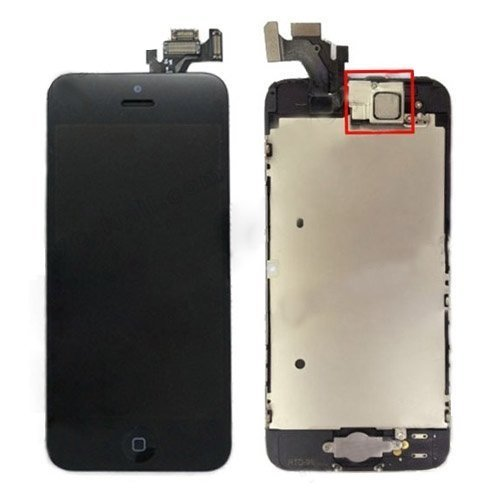 Oem Lcd Digitizer Glass Screen With Small Parts Assembly For Iphone 5 - Black front-185883