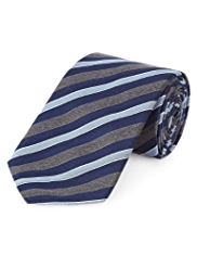 Collezione Made in Italy Silk Blend Striped Tie