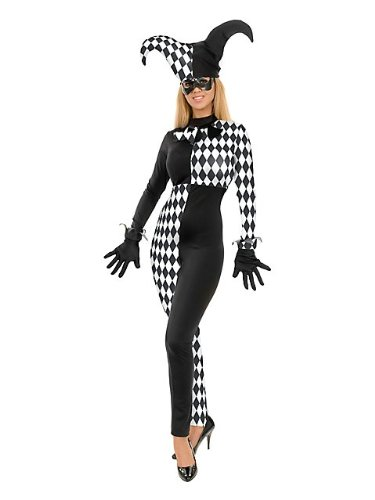 Charades Costumes Women's Diamond Jester Adult Costume