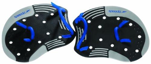 Speedo I.M. Tech Paddles (Black/Blue, Small/Medium) front-905755