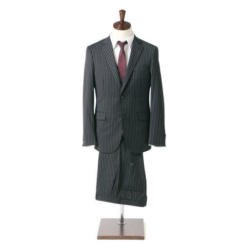 GROSSO COLLECTION (グロッソコレクション) ベスト付き シングル 2ボタン 3ピース ストライプ スーツ