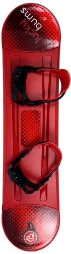 Lucky Bums Plastic Snowboard (Red, 120-cm)