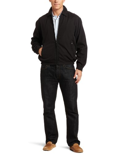 London Fog Men's Big Auburn Golf Jacket, Cement, XX-Large at Amazon.com