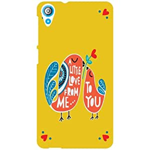 HTC Desire 820 Q Phone Cover - Q Love For Me Matte Finish Phone Cover