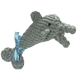 Jax and Bones Danny the Dolphin Rope Dog Toy Small: Amazon ...