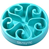 Siensync Fun Feeder Interactive Bloat Stop Dog Bowl (Blue or Red)