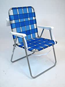 traditional lawn web chair with carry