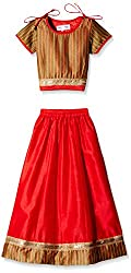 Atayant Girl Lehenga Choli (ATAYK_037_4-5YR_Gold-Red_L)