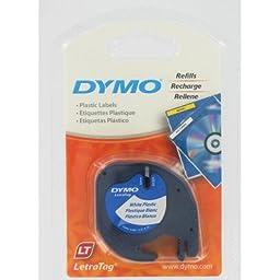 Dymo 91331 Pearl White Dymo Letratag Qx50 Tape