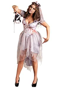 Womens Zombie Bride Costume (1X)