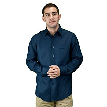 Navy men linen clothing, shirt for men.