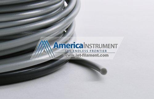 Jet - HIPS Filament 1kg (=2.2 lbs) on Spool for 3D Printer Makerbot, Reprap, Makergear, Ultimaker, Up!, etc. - USA (1.75mm, Grey)