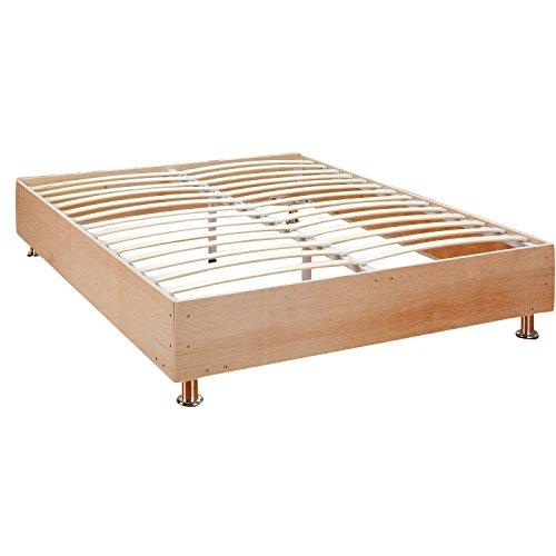 classic brands europa deluxe wood slat platform mattress foundation bed frame full furniture. Black Bedroom Furniture Sets. Home Design Ideas