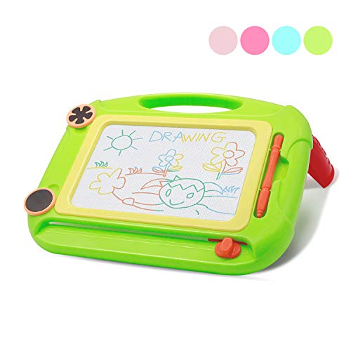 SLHFPX Kid Toys for 2 Year Old Girls Magnetic Doodle Board, Drawing Pad Toys for Girls 3 Years Old Magnetic Writing Board Birthday Gifts Educational Present,Green