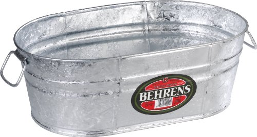 Buy Behrens 00-OV 4-Gallon Oval Steel Tub