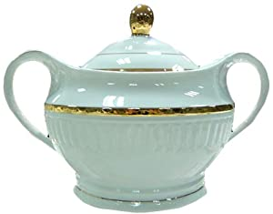 Enchanté Gold Collection Porcelain 3.7qt Soup Tureen with Lid by Enchant�