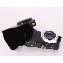 Imported Black PU Leather Camera Bag Case Cover for Samsung EK-GC100 EK-GC110 EK-GC120