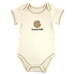 Hudson Baby Organic Bodysuit - Cookie, 3-6 Months