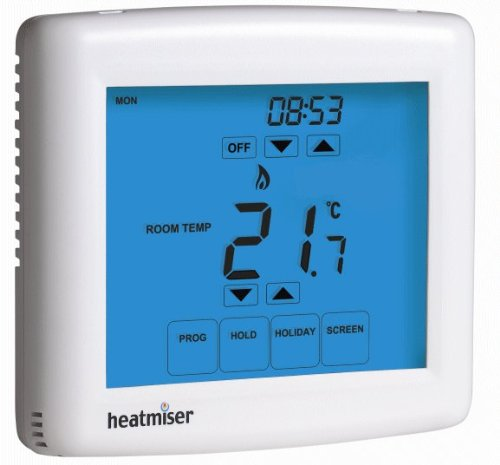 Touchscreen Programmable Room Thermostat - Heatmiser PRT-TS