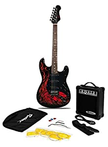 Jaxville Demon ST Style Electric Guitar Pack