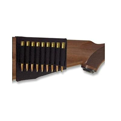 Ultimate Arms Gear Tactical Stealth Black 13 Round Rifle Ammo Shot Shell Cartridge Stock Buttstock Slip Over Carrier Holder Fits .243 .270 .30-06 .308 7.62x39mm Ruger American Mini-30 CZ 527 Models Ambidextrous Use for Both Righty and Lefty Shooters Unive