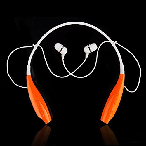 Onedayshop® Brand New Universal Hbs-730 Wireless Bluetooth Stereo Headset Neckband Style Earphone And Handfree Headphones For Cellphones, Such As Iphone, Nokia, Htc, Samsung, Lg, Moto, Pc, Ipad, Psp & Any Bluetooth Enabled Device.(Orange)