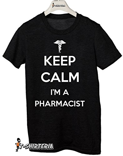 "t-shirt humor ""Keep calm I'm a pharmacist"" farmacista, farmacia, medico - S M L XL XXL tutte le taglie uomo donna maglietta by tshirteria"