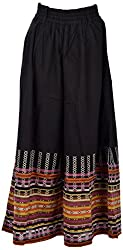 Beautiful Clothes Womens Crepe Skirts ,Black ,Small