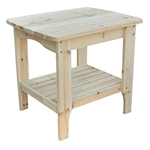 Shine Company Rectangular Patio Side Table Large Natural from Shine Company Inc.