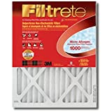 """3m Filter Electrostatic, Micro Allergen Reduction 23.5 """" X 23.5 """" X 1 """" Pleated 1000 Mpr"""