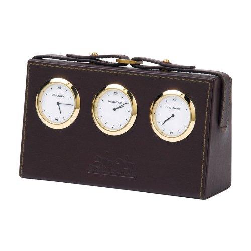WEDGWOOD Equestria World desk clock - leather
