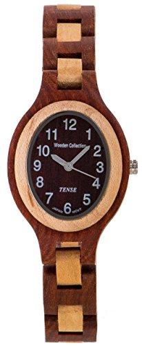 Tense Wood L7301SMRA Women's Oval Sandalwood Watch